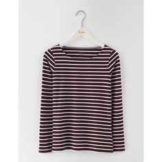 Boden Long Sleeve Breton (25.315 CLP) ❤ liked on Polyvore featuring boden