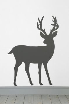 Deer Wall Decal. urban outfitters. this would be so awesome on our giant wall for Christmas decor. Love it.