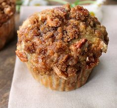Banana Muffins with Crumb Topping... Moist, soft and full of banana flavor with a crunchy delicious topping that puts this banana muffin over the top.