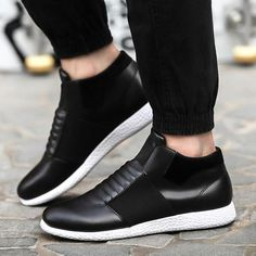 Casual laceless elastic sneakers for a stylish look Easy slip-on access Comfortable breathable upper Made from PU Rubber sole Available in 3 colors