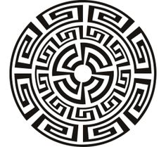 Aztec Circle Clip Art