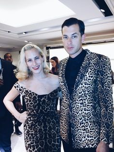 Charlotte Dellal and Mark Ronson at the Harrods Shoe Heaven party