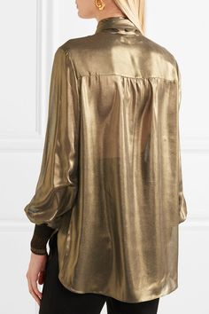 Gold lamé, multicolored ribbed-knit Concealed button fastenings through front 100% polyester; trim: 66% polyester, 34% Lurex Dry clean