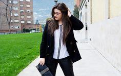 Secretos de Belleza con blusa SPG Jenuan: Outfit of the Day ~ Contrastes Black & White ~ Curvy girl #spgjenuan