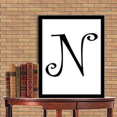 Letters N Print Letters N Digital Monogram Print Initial Print Digital Quote Print Digital Typography Art Wall Decor Poster 8X10 11x14 de la boutique sweetdownload sur Etsy