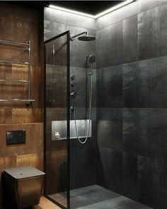 175 bathroom shower modern ideas interior - page 24 > Homemytri. Bathroom Design Luxury, Bathroom Layout, Modern Bathroom Design, Home Interior Design, Small Bathroom, Interior Plants, Home Design, Interior Ideas, Bathroom Design Inspiration