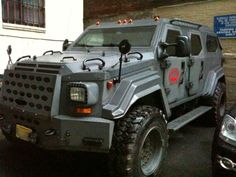 Marc Ecko's Extreme Urban Assualt Vehicle – The Gurkha [Video] 4x4 Trucks, Lifted Trucks, Cool Trucks, Army Vehicles, Armored Vehicles, Armored Truck, Bug Out Vehicle, G Wagon, Camper