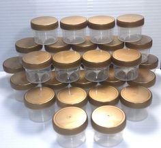 100 NEW Plastic Small Jars candy nut containers Party Goods 1oz  DecoJars K4304 #DecoJars