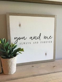 WOOD SIGN DECOR. MASTER BEDROOM IDEAS. GIFT IDEAS FOR BRIDES.