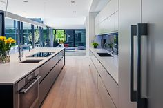 Cutting edge family home in South West Oakville, designed by Guido Costantino Architect, Interior - living area / kitchen