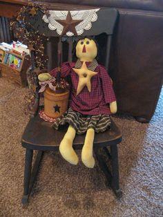 Primitive Rocking Chair...