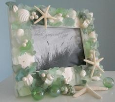 Beach Frames - Nautical Decor Sea Glass Shell