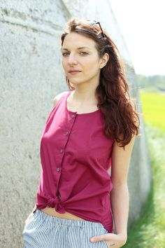 Bluse rasperry :: by johannahauckcom Raspberry, Etsy, Blouse, Austria, People, How To Make, Jewelry, Handmade, Fashion