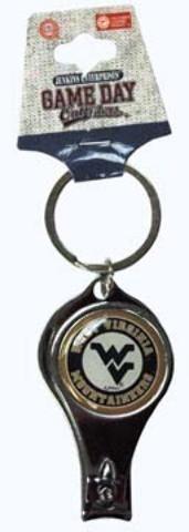 West Virginia University - Keychain Nail Clipper Bullseye - 144 Units