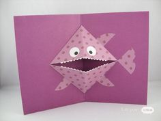 Cards Diy, Fun Fold Cards, Folded Cards, Kids Cards, Preschool Crafts, Fun Crafts, Crafts For Kids, Paper Crafts, Diy Paper