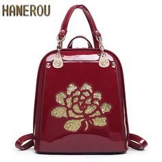 Famous Brand Backpack Women Backpacks Solid Fashion School Bags For Girls Black PU. Item Type: BackpacksBrand Name: HANEROUStyle: European and American StyleDecoration: Hollow Out,Flowers,Rivet,EmbroideryGender: WomenLining Material: PolyesterExterior: Silt PocketClosure Type: ZipperCarrying System: Arcuate Shoulder StrapCapacity: Below 20 LitreRain Cover: NoPattern Type: SolidInterior: Cell Phone Pocket,Interior Zipper Pocket,Interior Slot PocketBackpacks Type: SoftbackHandle/Strap Type…