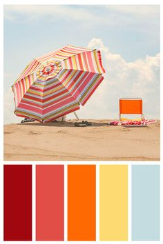 Discover recipes, home ideas, style inspiration and other ideas to try. Red Colour Palette, Colour Schemes, Color Combos, Beach Color Schemes, Color Pop, Coastal Wall Decor, Beach House Decor, Design Seeds, Color Balance