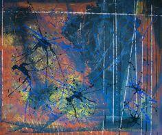 In line, schilderij van Christian van Hedel | Abstract | Modern | Kunst