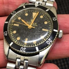 A 6205 Sub. The origin of the Rolex submariner line circa 1954. One of the 3 rarest sub models. ‪#‎tgif‬