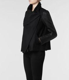 AllSaints Hide Monument Jacket | Womens Jackets