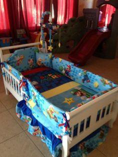 Nintendo Super Mario Crib BABY Bedding & Bumpers Mobile Set