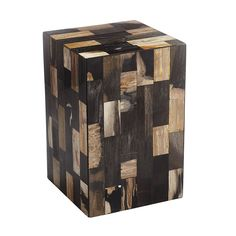 Petrified Wood Side Table – Noir - NEW