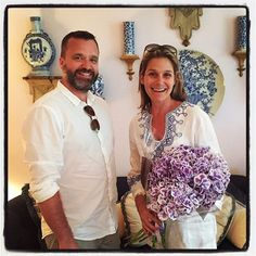 Look who Mr. Minty ran into on his travels! The beautiful AERIN​ Lauder.