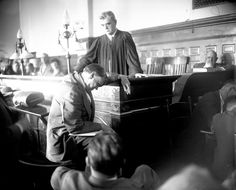 """1924. Defense attorney Clarence Darrow argues for life sentences for Richard Loeb, 18, and Nathan Leopold Jr., 19, on trial for the murder of 14-year-old Robert """"Bobby"""" Franks. In hopes of avoiding the death penalty, Darrow pleaded both defendants guilty."""
