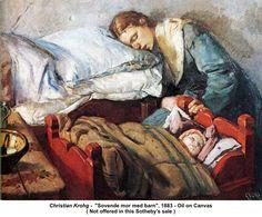 Christian-Krohg-Sovende-mor-med-barn