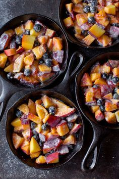 Take your fruit crisp to the next level by making a brown butter streusel and mixing up the fruits! Brown butter blueberry peach crisp recipe on http://sallysbakingaddiction.com