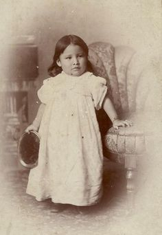 "Zintka Lanuni ""Lost Bird"" Orphaned in the Battle of Wounded Knee and taken away from her Native American tribe by General Leonard Wright Colby."