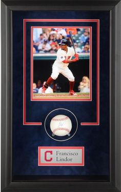 438d7464b Francisco Lindor Indians Framed Signed Baseball Shadowbox - Fanatics   sportsmemorabilia  autograph  baseball Mlb