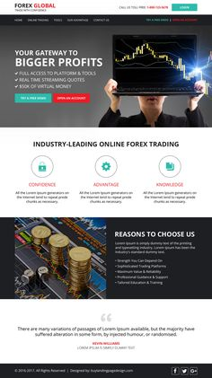 Forex brokers free psd website template