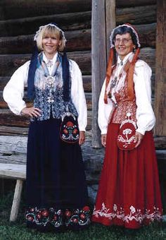Where my grandfather Peter Bye was from. Folk Costume, Costumes, Norwegian Wedding, Norway Viking, Norse Vikings, Historical Clothing, Blue Fashion, Traditional Dresses, Daughter
