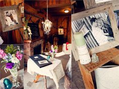 Rustic chic wedding decor. Barn reception