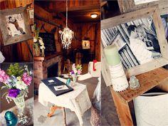 Rustic chic wedding decor. Barn reception