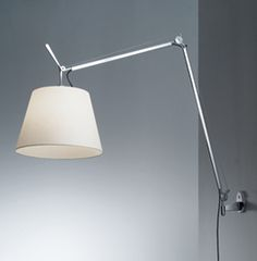 Artemide Inc.| Tolomeo Mega Wall lamp  - in lieu of a chandelier; centered on wall above banquette to arch over table. Paper or silk shade options.  +/- $500