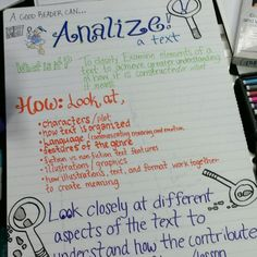 Analyze anchor chart   # Pin++ for Pinterest #