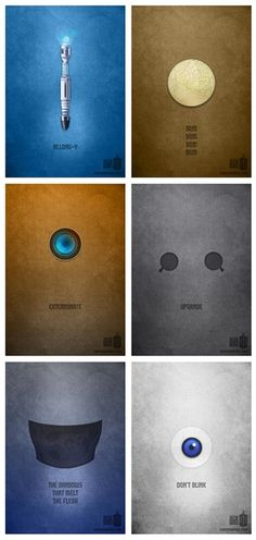 "Minimalist ""Doctor Who"" posters (Karma Orange, 2013)"