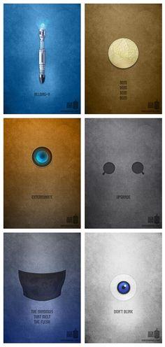 "Minimalist ""Doctor Who"" posters by Karma Orange"