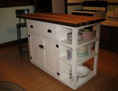 trendy kitchen island with seating diy plans Kitchen Design Plans, Build Kitchen Island, Portable Kitchen Island, Kitchen Island Decor, Diy Cabinets, Diy Kitchen Island, Stools For Kitchen Island, Diy Kitchen, Trendy Kitchen
