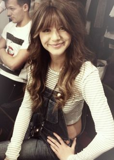 Eleanor calder's bangs are totally cute she is one of the many few that can pull them off
