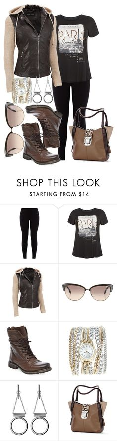 """""""Holiday Errands, Casual Plus Size"""" by tweedleduh on Polyvore featuring Black Rivet, Oliver Peoples, Steve Madden, Lane Bryant, Whistles, Brighton, plussizefashion, keepitcasual and plus size clothing"""