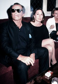 Jack Nicholson and Anjelica Huston at the premiere of the movie Amadeus, Sept 1984