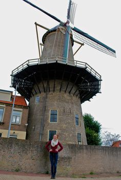 Kate Young '14 in the city of Gouda during study abroad in Amsterdam. Sept. 2012.