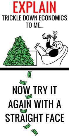 Explain trickle down economics poster