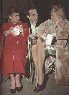 Audrey Hepburn, Humphrey Bogart & Marlene Dietrich