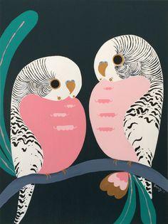 """Blush"" by emma whitelaw. Paintings for Sale. Bird Illustration, Illustrations, Bird Artwork, Guache, Watercolor Bird, Aboriginal Art, Animal Paintings, Online Art, Cute Art"