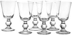 La Rochere Set Of 6, 8.5-ounce Bocage Mouth Blown Wine Glasses