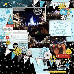 Now it's Time to Say Goodbye Disney digital scrapbooking layout using the Project Mouse (See Ya Real Soon) by Britt-ish Designs and Sahlin Studio Pocket Page Scrapbooking, Digital Scrapbooking Layouts, My Scrapbook, Frowny Face, See Ya, Thanks For The Memories, Journal Cards, Twinkle Twinkle, Word Art